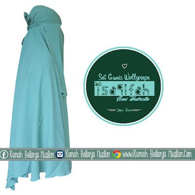 Model Jilbab Cadar Gamis Warna Pastel Hijau Semen