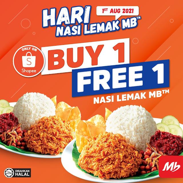 Marrybrown Nasi Lemak Buy 1 Free 1 Deal - Shopee
