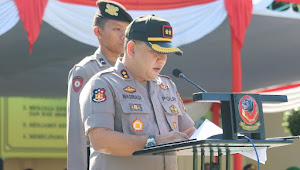 Polres Sukabumi Gelar Apel Pasukan Mantap Pamong Ratu 2019