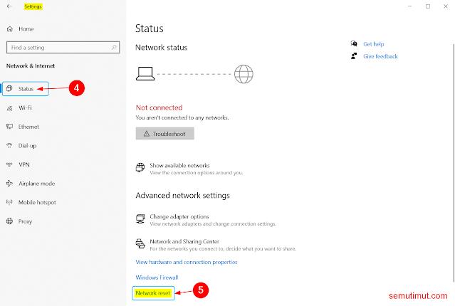 cara reset network adapter windows 10