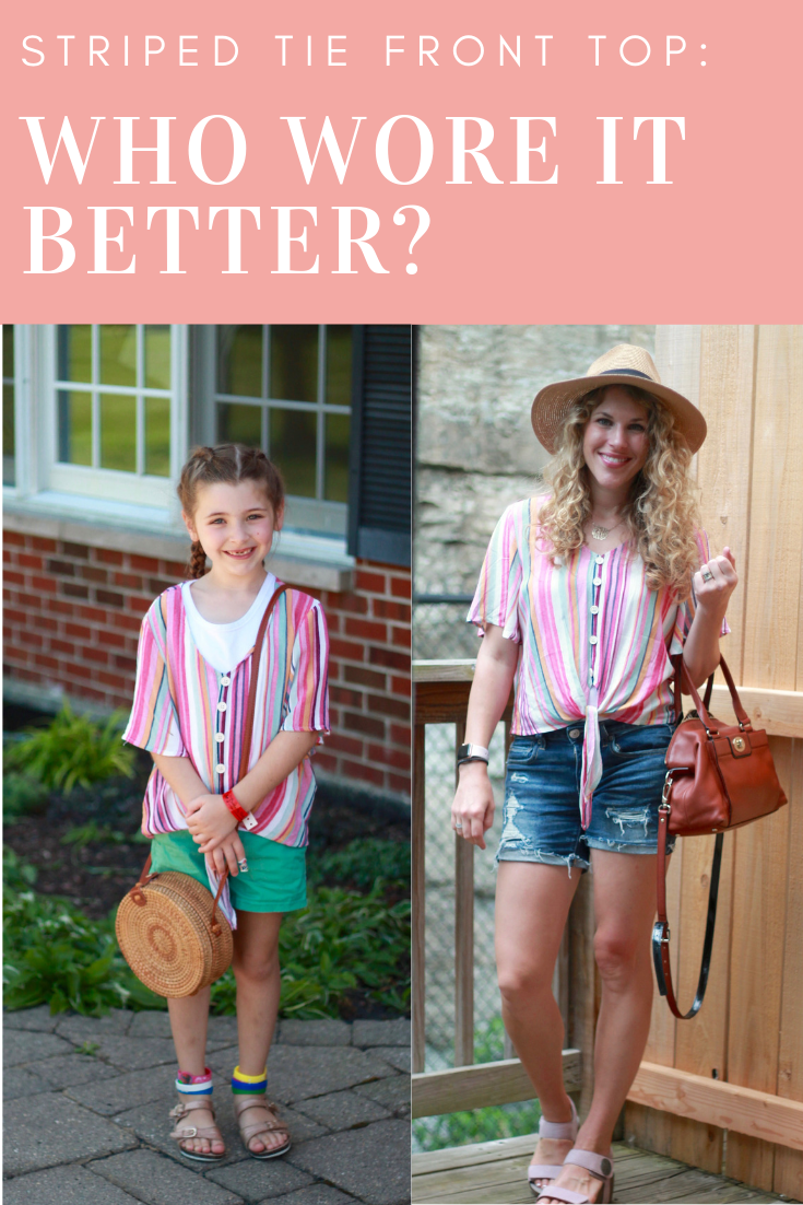 Striped Tie Front Top: Who Wore It Better?