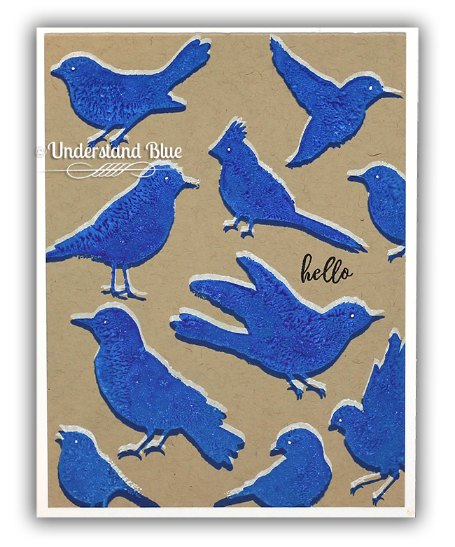 Ghost Stamped Hero Arts Birds by Understand Blue