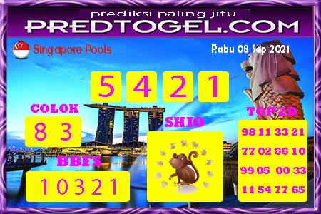 Pred SGP Rabu 08 September 2021