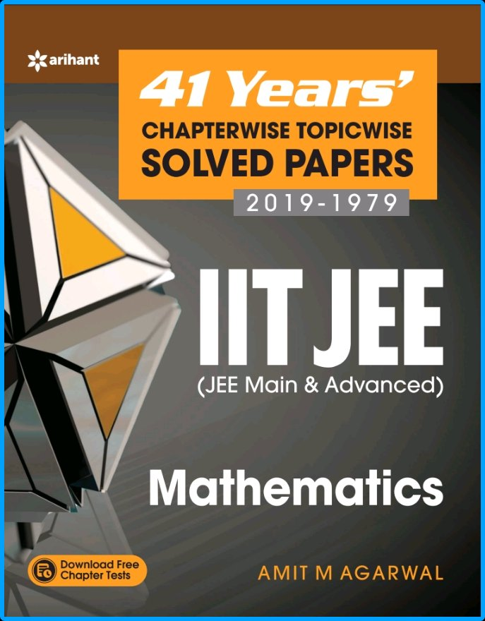 Arihant 41 Years Mathematics Solved Papers