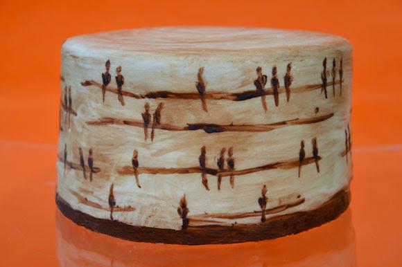 Met cacaoboter je taart beschilderen