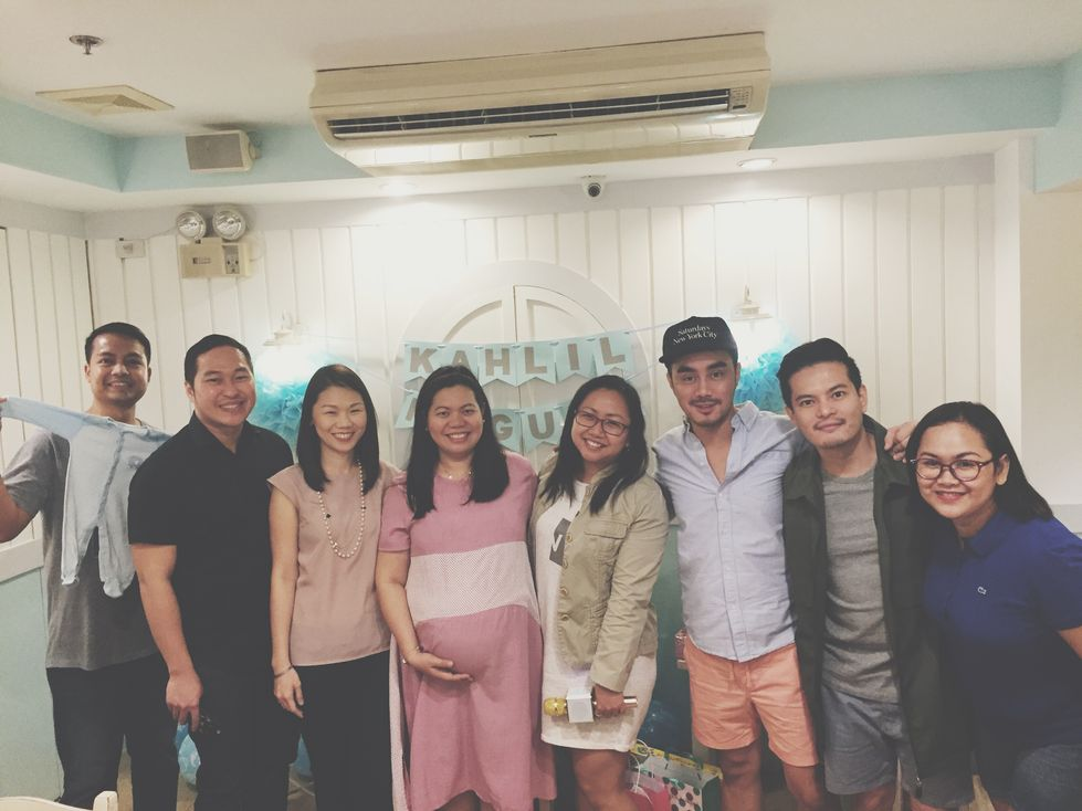 Photo with our college friends during our Stacy's BGC baby shower