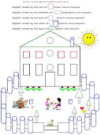 Odev Kalemi 4 Sinif Matematik Dersi Geometrik Sekiller Boyama
