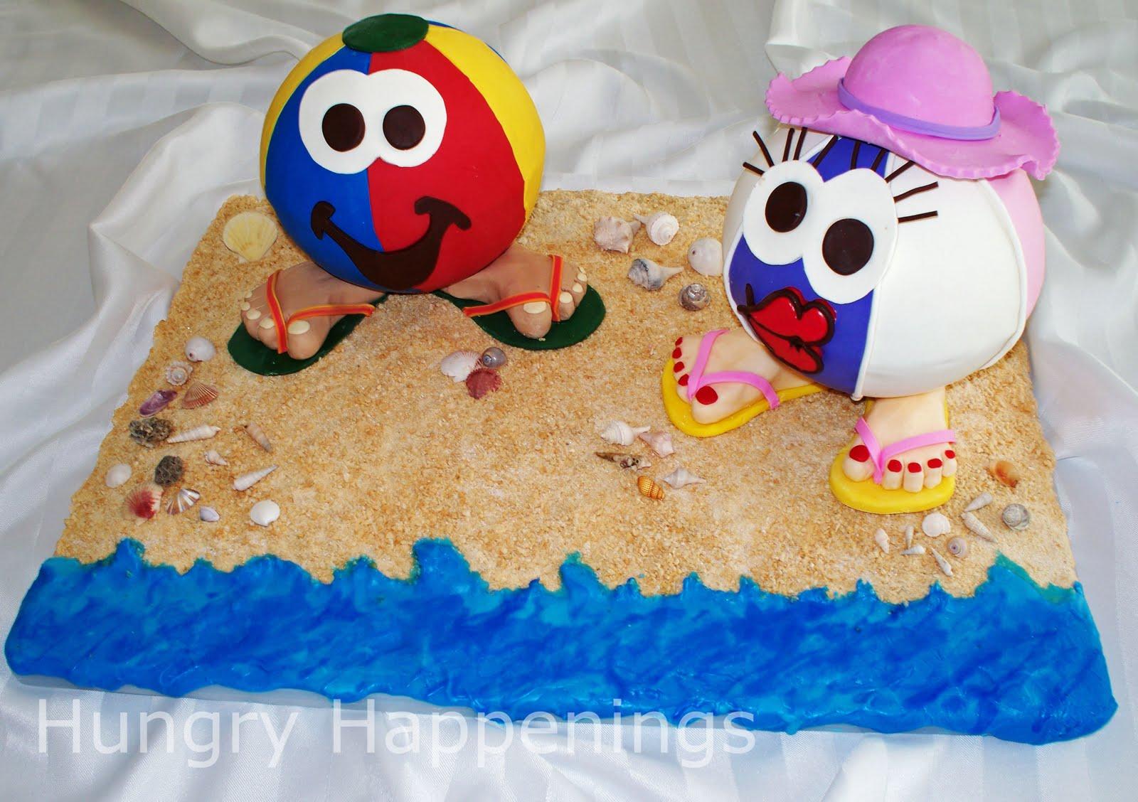Beach Ball Cake Decorations