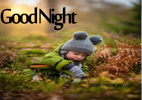 good night images with baby
