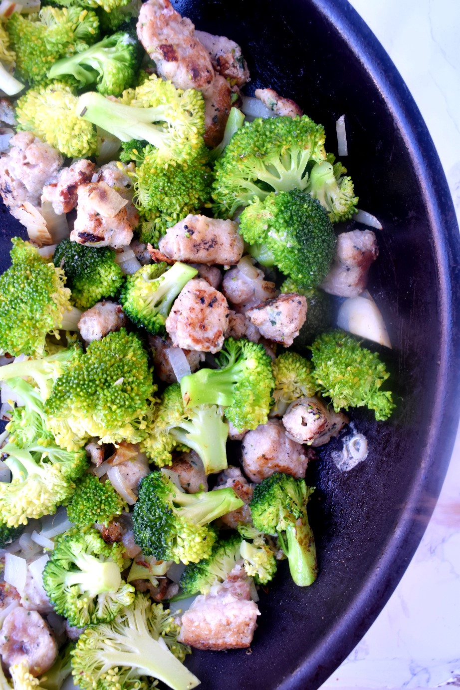 Chicken Sausage and Broccoli