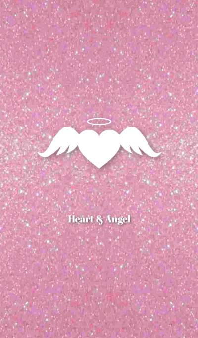 Pink Lame Heart & Angel