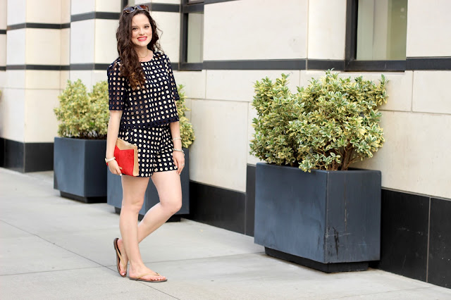 Nyc fashion blogger Kathleen Harper wearing a matching shorts outfit