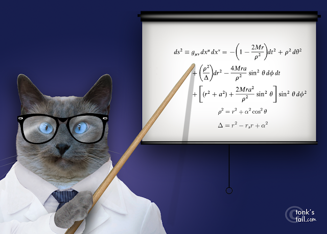 If you will kindly direct your attention to the equation on the screen....
