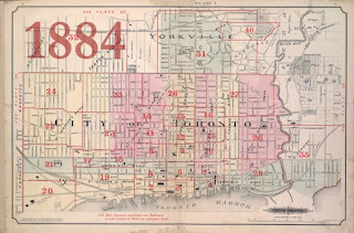 1884 Goad Atlas of the City of Toronto - Key Map