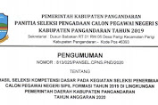Pemkab Pangandaran: Hasil SKD CPNS Formasi Tahun 2019