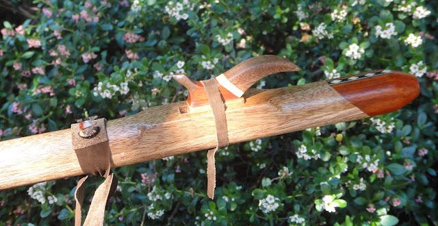 flauta nativa americana caoba africana y palo rojo Fa sost