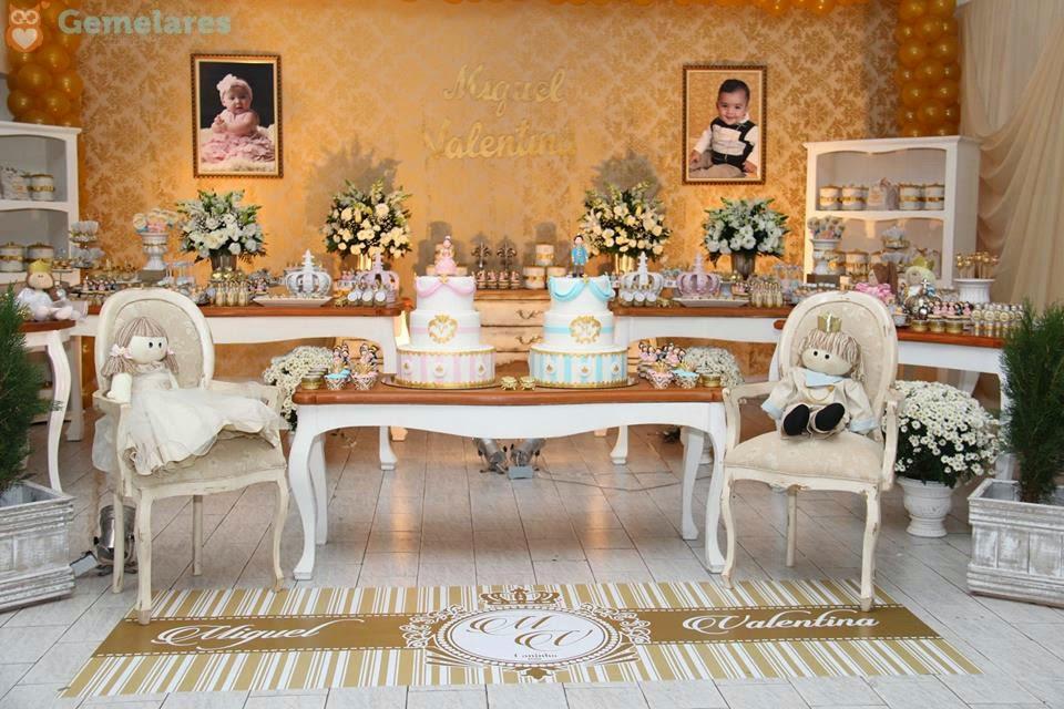 Amado Aniversário Príncipe e Princesa - Gêmeos Miguel e Valentina  GC96
