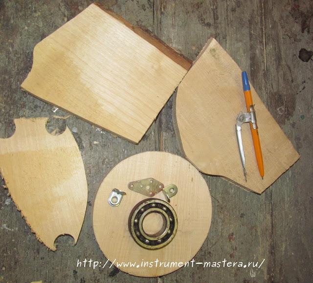 изготовление вращающейся деревянной подставки для борфрез