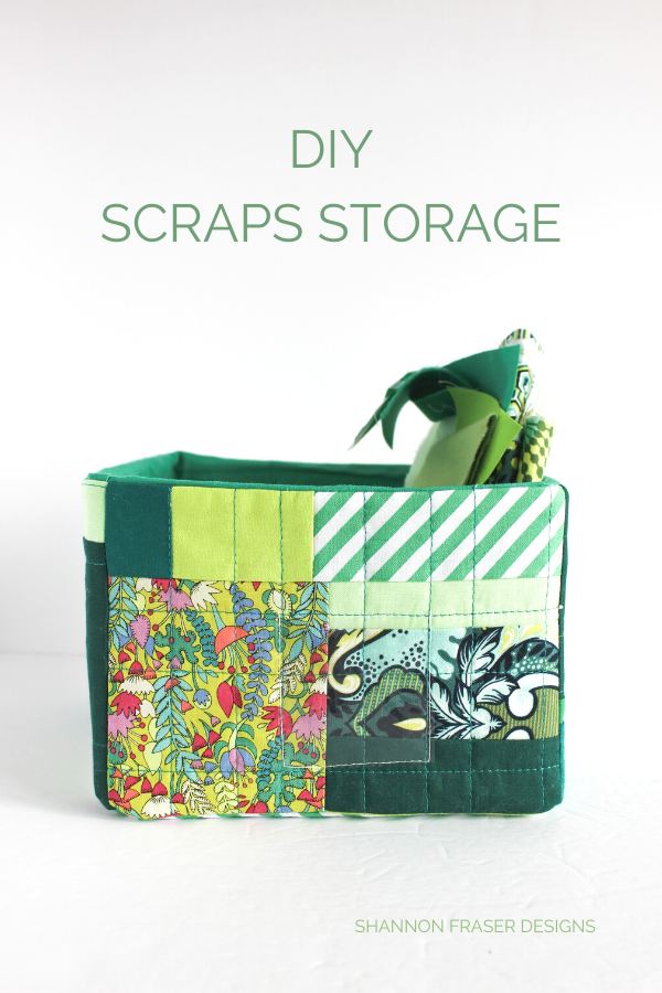 DIY Green improv scraps storage box | Shannon Fraser Designs