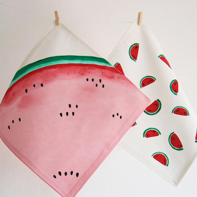 Wassermelonen - DIY - Serviette - Gartenparty