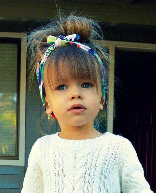 Hairstyles for Little Girls - Volume Bun
