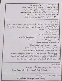 أسئلة اختبار اللغة العربية للشهادة الإعدادية 2021 محافظة القاهرة 4