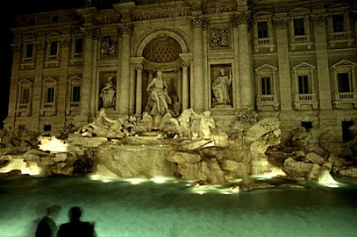Night View of trevi Fountain
