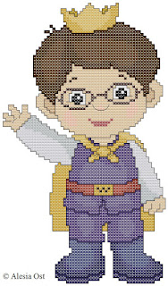 Free cross-stitch patterns, Prince Wednesday, prince, boy, people, Daniel Tiger, Daniel Tiger's Neighborhood, cartoon, cross-stitch, back stitch, cross-stitch scheme, free pattern, x-stitchmagic.blogspot.it, вышивка крестиком, бесплатная схема, punto croce, schemi punto croce gratis, DMC, blocks, symbols, patrones punto de cruz, #crossstitch_pattern