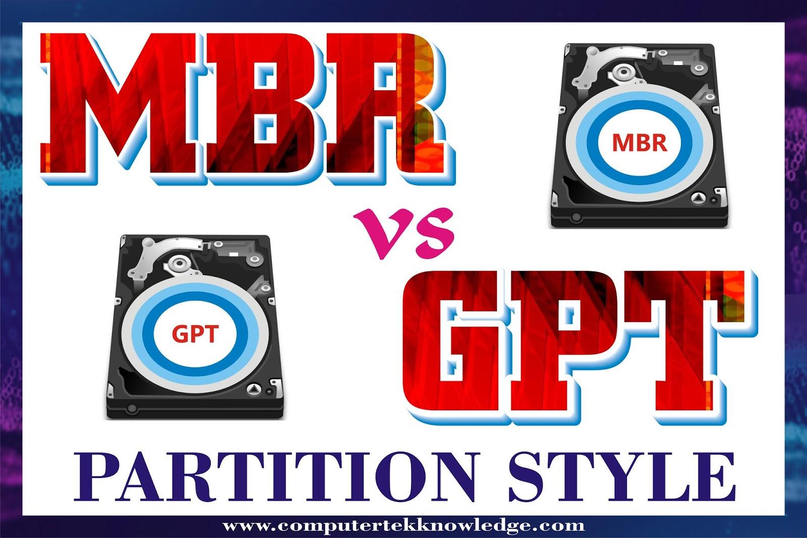 mbr vs gp partition style