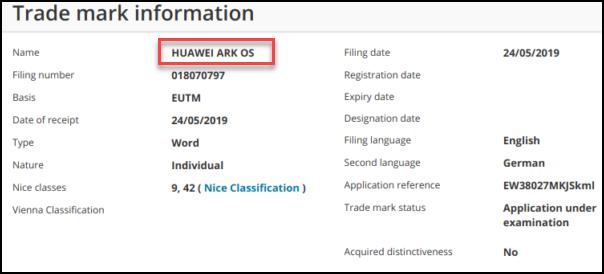 ARK OS ، هو إسم نظام التشغيل الخاص بشركة هواوي بديلًا لنظام الأندرويد