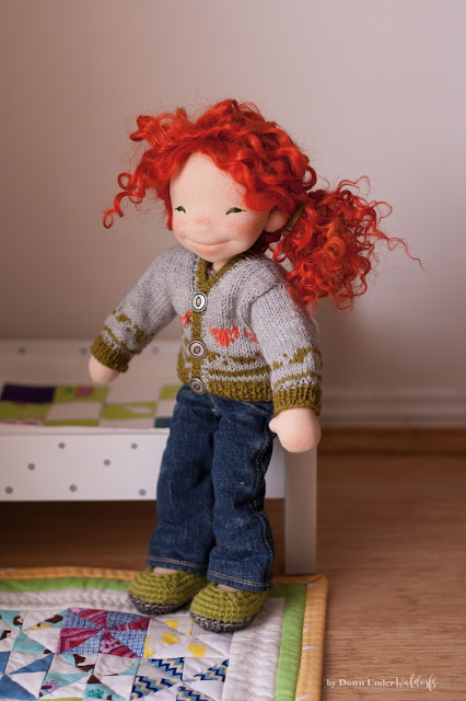 Natural Fiber Art doll by Down Under Waldorfs