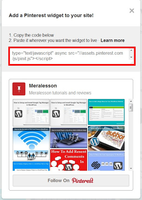 How to Display Pinterest Pins Into your Posts in Blogger Blog