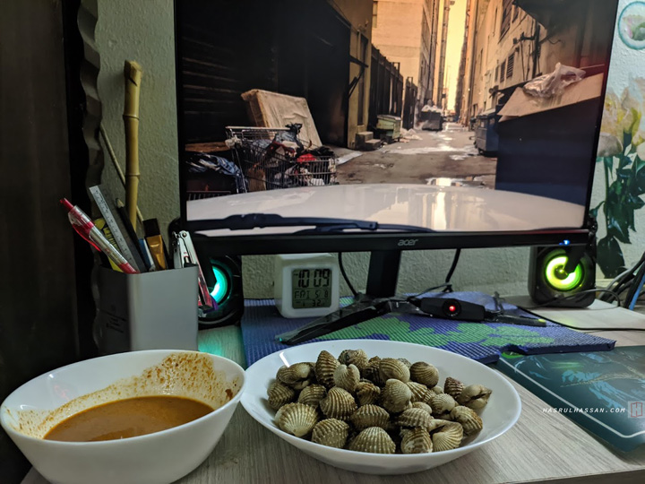 Kerang Rebus Cicah Kuah Kacang - Snek Sedap di Bulan Ramadan
