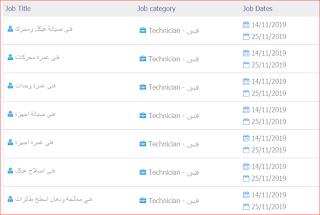 وظائف شركة مصر للطيران