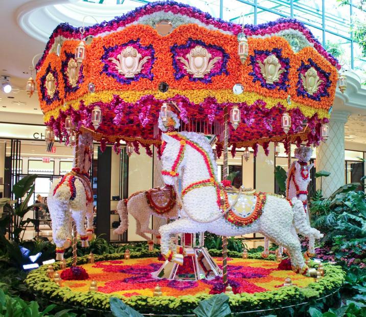 Floral Carousel at the Wynn