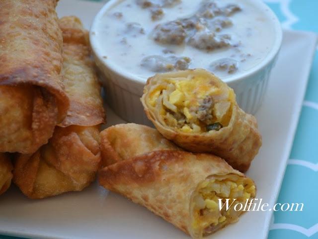 Eggrolls With Sausage Gravy Recipe #Eggroll