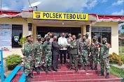Danramil 416-04/Pulau Temiang Bersama Jajaran Kunjungi Mako Polsek Tebo Ulu