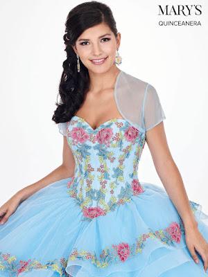 Sky Blue color Ball Gown Dress Front Design