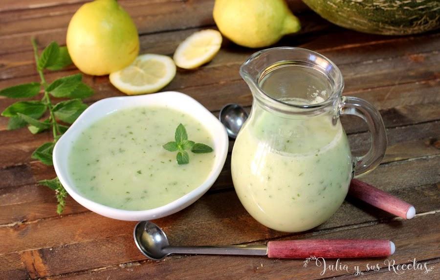 Gazpacho de melón con limón y menta fresca