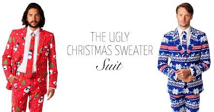 Ugly Christmas Sweater Suits | Hässliche Weihnachts Pullover Anzüge - Weihnachten ist gerettet