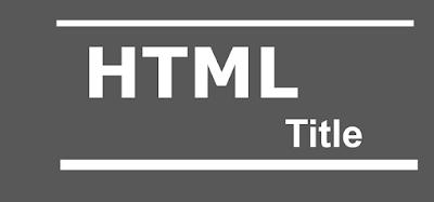 HTML title headings