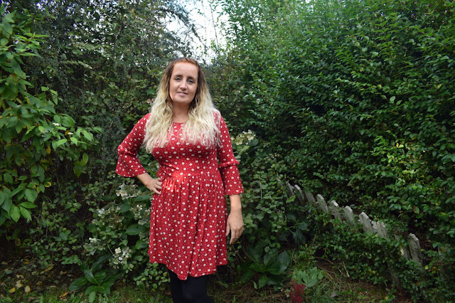My new winter wardrobe with Look of the Day red floral tunic dress