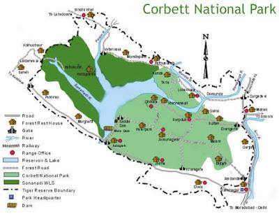 Jim Corbett National Park Map