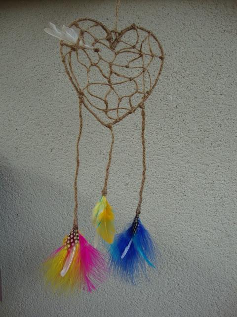 Detalle de las plumas del atrapa - amores