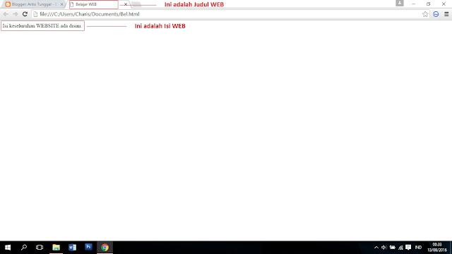 Membuat WEB HTML Dasar