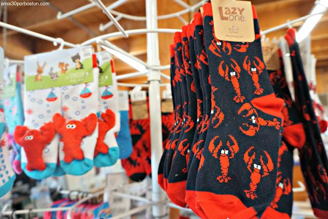 Calcetines con Langostas en Land's End Gift Shop en Bailey Island, Maine