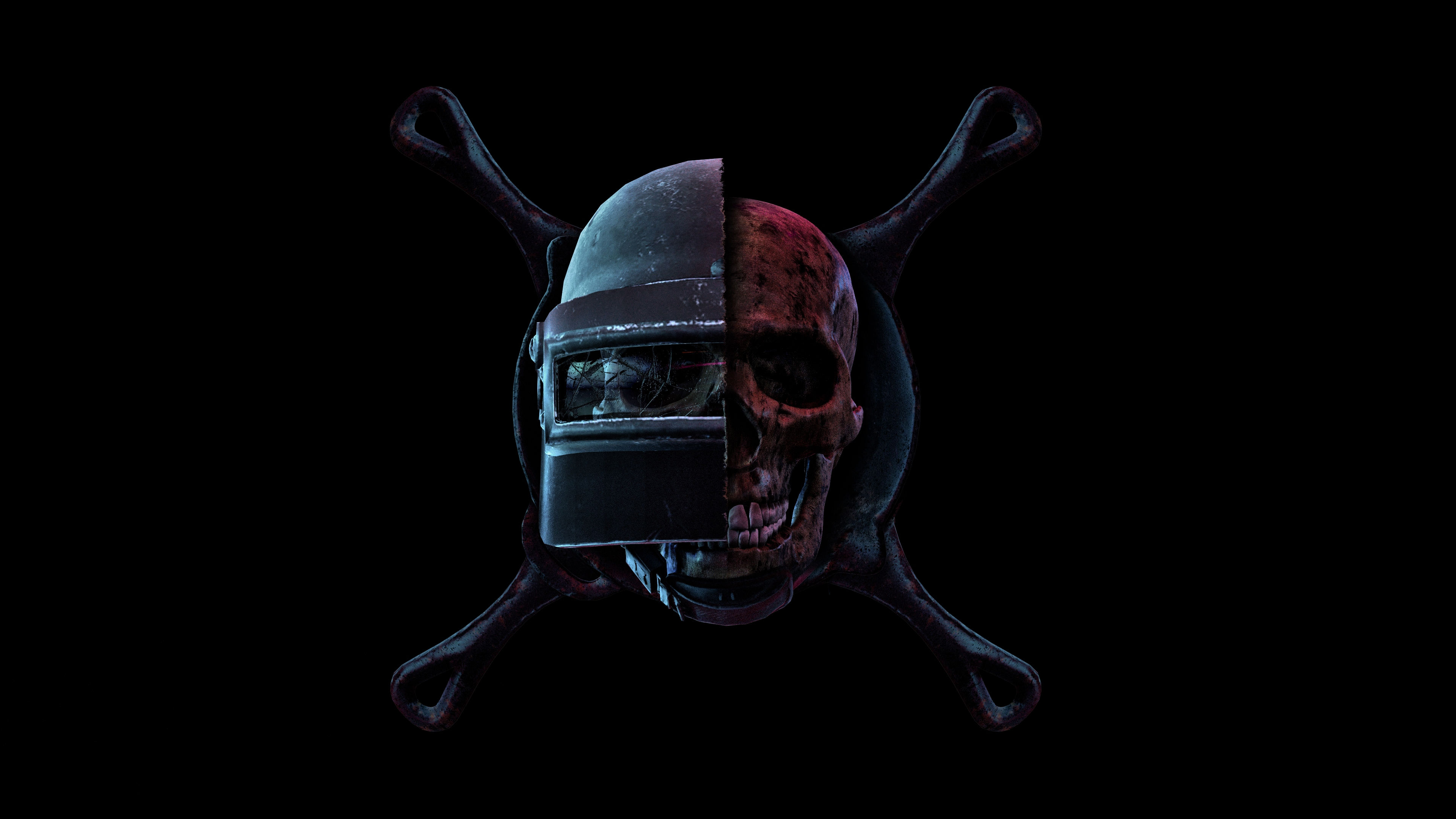 Pubg Skull Helmet Frying Pan Playerunknown S Battlegrounds 4k Wallpaper 126