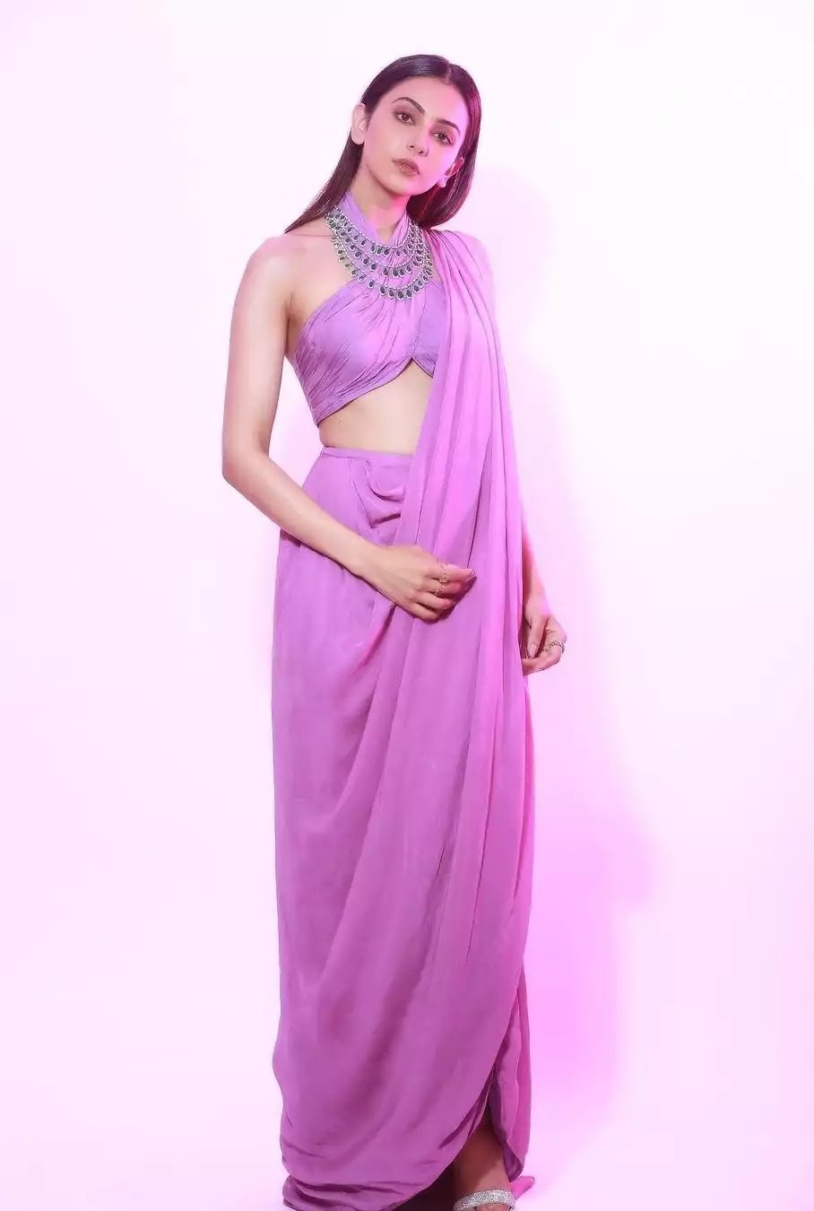 rakul-preet-singh-lavender-saree