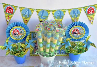 kit cumpleaños la granja