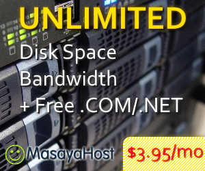 Unlimited Web Hosting for only $3.95/mo